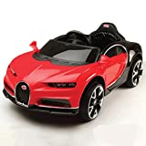 #4: GetBest Buggati Ride on Car for Kids with 12V Battery Operated and Remote, Red