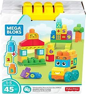 Mega Bloks Autobús vamos a contar, bloques de construcción para bebé +1 año (Mattel FBM80)