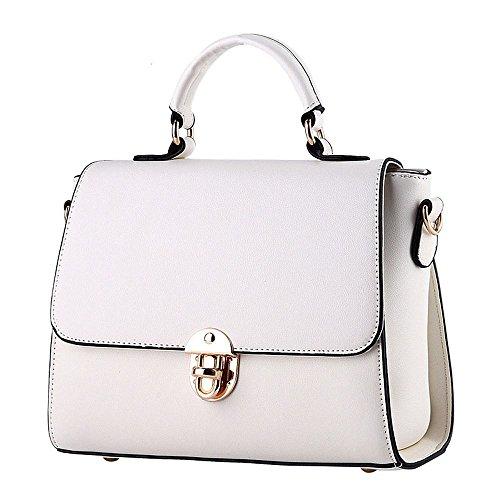 koson-man-womens-pu-leather-vintage-beauty-buckle-tote-bags-top-handle-handbagwhite