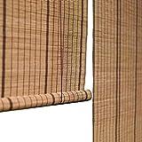 Bambusrollo Bambusvorhang 60% Lichtfilterung Vertikaler Blackout, Bambusrollos Mit Seitenzug, Geeignet Für Flure, Teehäuser (größe : 100×160cm)