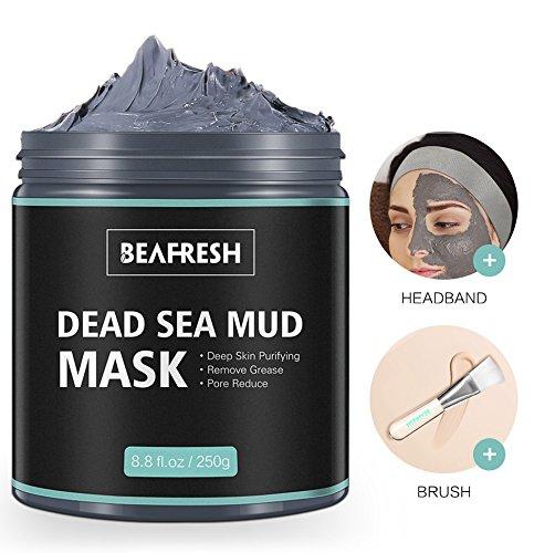 Natürliche Schlammmaske aus dem Toten Meer - Gesichtsmasken Körperreinigung Entspannende Detox-Behandlung Reduzieren Sie die Poren Reinigende Gesichtsmaske für Akne Mitesser Fettige Haut mit -
