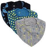 Pippi Baby Jungen (0-24 Monate) Schal, 3er Pack Gr. One Size, Blau - Blau (Vallarta Blue)