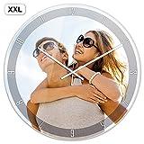 PhotoFancy® - XXL Uhr mit Foto bedrucken - Fotouhr aus Acrylglas - Wanduhr mit eigenem Motiv selbst gestalten