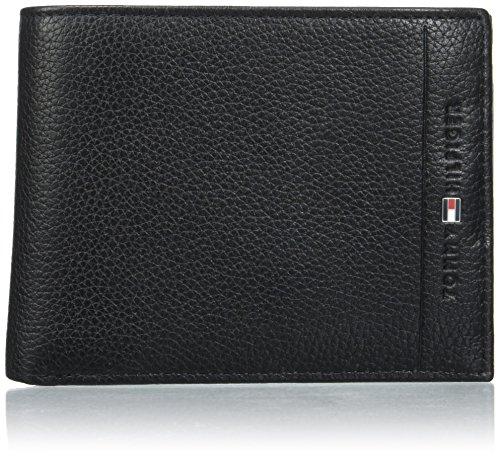 Tommy Hilfiger Herren Core Cc Flap and Coin Pocket Geldbörse, Schwarz (Black), 3x9.7x12 cm