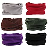 Elastisches Stirnband Multifunktionale Sport Nahtlose Magische Kopfbedeckung Outdoor Halstuch Schal mit UV Beständigkeit (Solide Serie)