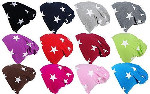 Bambino cappello berretto jersey Long autunno inverno Trend Slouch Beanie dolce Cute Trend 2016/2017in diversi colori e con stelle Blau Taglia unica
