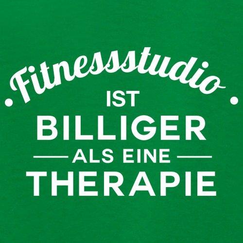 Fitnessstudio ist billiger als eine Therapie - Damen T-Shirt - 14 Farben Grün