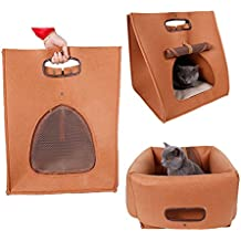 Orchidtent 3 Shapes Pet Nest Bed Carrier plegable y portátil casa para gatos y perros