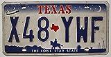 USA Nummernschild TEXAS ~ US Kennzeichen COWBOY REITER Motiv ~