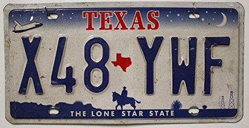 USA Nummernschild TEXAS ~ US Kennzeichen COWBOY REITER Motiv ~ Blechschild