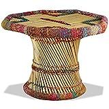 Tidyard Table Basse de Salon   Table d'appoint   Table Basse Bambou avec Tissés...
