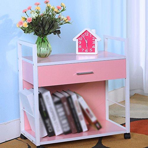 DFHHG® Estantería, Madera maciza Panel de partículas - aglomerado Blanco Negro Nogal Color Rosa Teca Color durable ( Color : #5 )