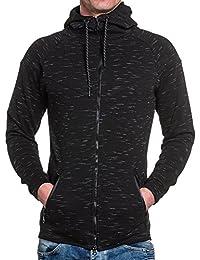 BLZ jeans - Sweat noir homme zippé à capuche