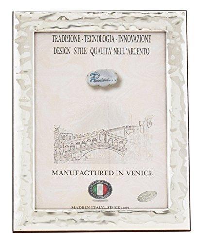 MAREA Portafoto Cornice Ritratto Argento Artigianale Italy fatto a Mano ca.20x30cm