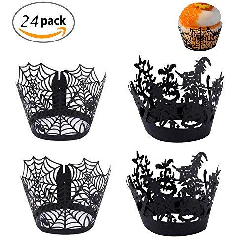 Set de envoltorios decorativos para cupcakes de Halloween
