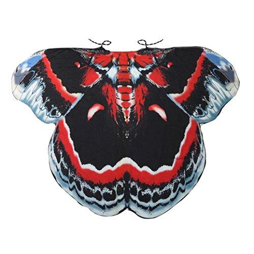 Camel Kinder Kostüme (Overdose Frauen 197*125CM Weiche Gewebe Schmetterlings Flügel Schal feenhafte Damen Nymphe Pixie Kostüm Zusatz (197*125CM,)