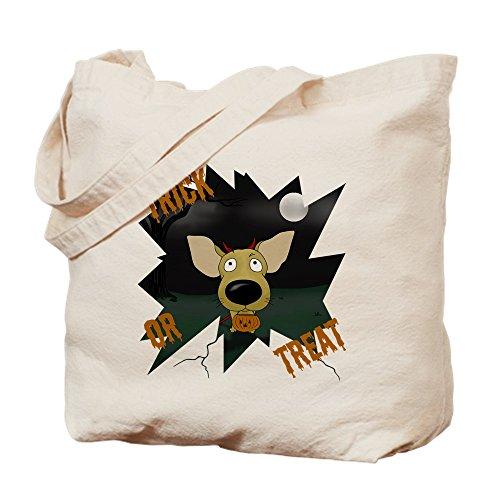 CafePress Chihuahua Devil Halloween Tragetasche, canvas, khaki, S (Halloween-die Ist S Devil Geburtstag)