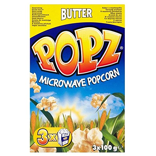 Popz Microwave Butter Popcorn 3 x 100g