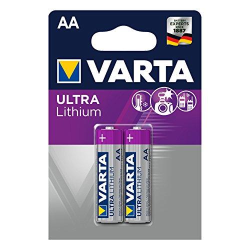 Varta Lithium Batterie AA Mignon Batterien LR6-2er Pack (Design kann abweichen)
