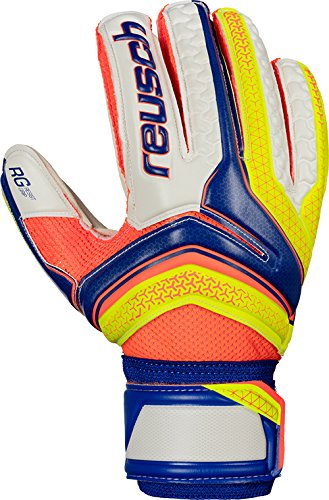 Reusch Herren Serathor RG Finger Support Torwarthandschuhe, Dazzling Blue/Safety Yello, 11 (Torwart-handschuh Reusch)