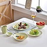 Vancasso, Natsuki Porzellan Speiseteller, 12 teilig Rund Teller Set, Ø 27 cm Große Flachteller, Bunt - 9