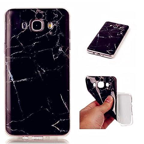 iPhone 5C coque, Wanyuda TPU Coque en silicone gel doux Coque transparente et marbre Motif–Vert jade