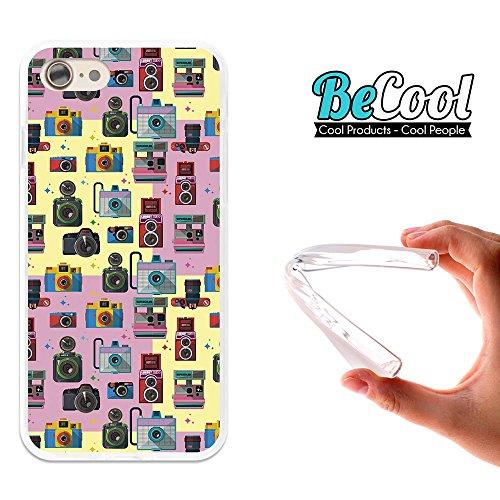 BeCool®- Coque Etui Housse en GEL Flex Silicone TPU Iphone 8, Carcasse TPU fabriquée avec la meilleure Silicone, protège et s'adapte a la perfection a ton Smartphone et avec notre design exclusif. App L1477