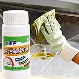 Wokee_ Kitchen Oil Cleaner, detergente per Olio da Cucina Detergente sgrassante Forte, rimuove fortemente la Cappa e l'olio della Stufa, Adatto per Cappa dell'olio, aspiratore della Stufa