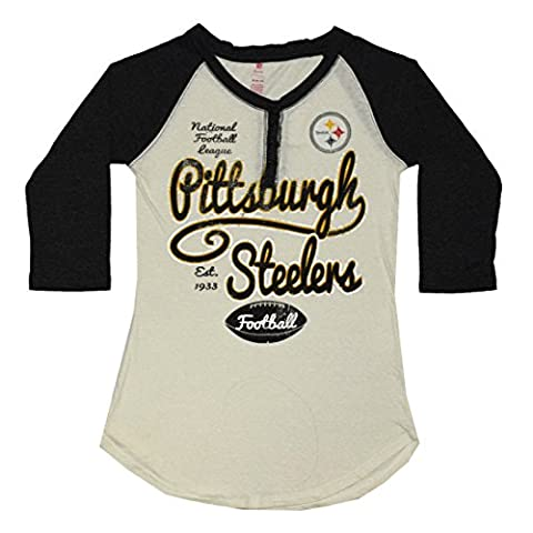NFL Pittsburgh Steelers Filles Chemise 3/4 manches Henley (FOIL PRINT) L(11/13) Multicolore