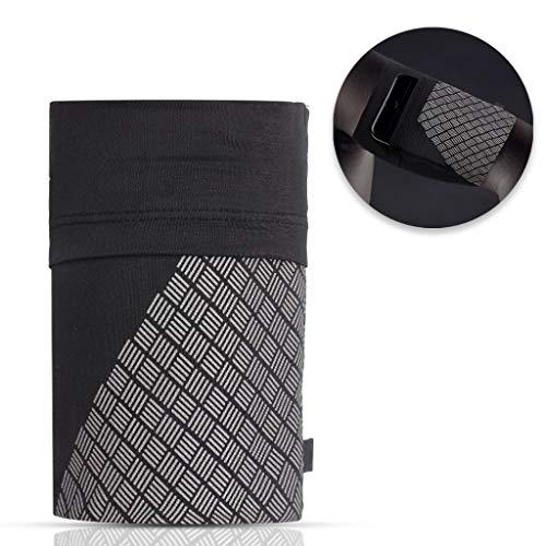 KELYDI Running Phone Armband, Comfort Sports Armbinde Sleeve Reflektierende Strap für Übung Workout Passt iPhone X / 8/7/6 / Plus, Samsung Galaxy S9 / S8 / S7, Schwarz