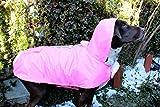 Frencie Mini Couture Impermeabile per cani impermeabile-rosa