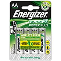 Energizer Power Plus Rechargeable AA Battery (Pack of 4)