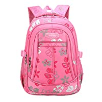 Lefuku Girls Children School Bags Primary Kids Backpack Waterproof Lightweight for Girls flower Pattern Students Satchel