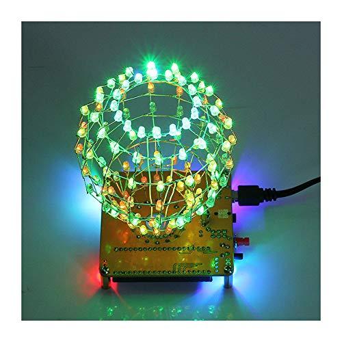 Colarful LED Cubic Ball DIY Kit 3mm RGB LED Licht Cube Cubic Ball Kreative elektronische Kit Fernbedienung Gehirn-Training Spielzeug