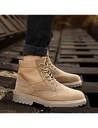 LOVDRAM Stivali da Uomo Martin Boots Boots Autumn Snow Scarpe da Uomo Scarpe  Alte Scarpe Scarpe Invernali negli Stivali Stivali in Pelle… 8df06ba4950