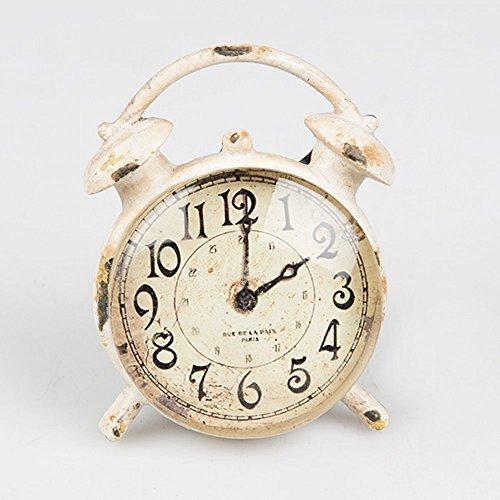Vintage Chic reloj despertador cajón armario para puerta tirador - crema envejecido