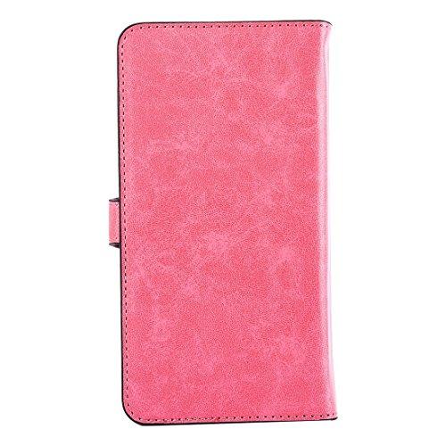 Hülle für iPhone 7 plus , Schutzhülle Für iPhone 7 Plus, Universal Horizontale Flip Leder Tasche mit Spiegel & Halter & Card Slots & Wallet & Photo Frame ,hülle für iPhone 7 plus , case for iphone 7 p Pink