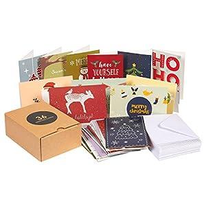 36unidades) feliz Navidad tarjetas de