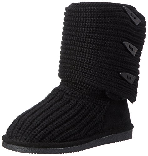 Bearpaw Knit Tall, Bottes mi-hauteur avec doublure chaude femme Noir - Schwarz (BLACK II  011)