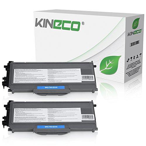 2 Toner kompatibel zu Brother TN-2120 TN2120 für Brother HL-2140, HL-2150N, HL-2170W,...