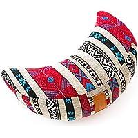 Preisvergleich für #DoYourYoga® Meditationskissen/Yogakissen in Halbmond-Form Amal - gefüllt mit Bio-Dinkelspelz (KBA) - waschbarer Bezug/hoher Sitzkomfort - ideal auch ALS Sitzkissen & Wohnkissen