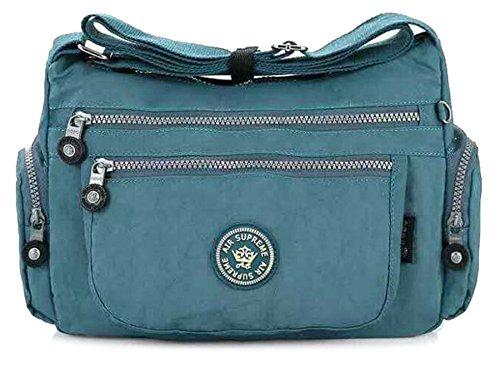 Big Handbag Shop - Borsa a tracolla unisex (Pale Teal)