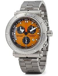 Formex 4 Speed DS2000 - Reloj cronógrafo de caballero de cuarzo con correa de acero inoxidable plateada (cronómetro)