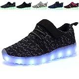 TULUO Niños y Niños y Niñas Zapatos LED Zapatillas de Carga USB Niños Zumbadores Pink1 33 EU