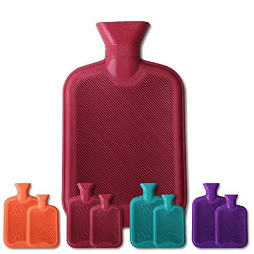 Arsvita Wärmflaschen rot - weinrot 1 Liter