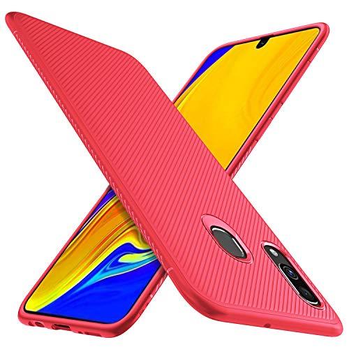 HOUROC Samsung Galaxy A40 Hülle, ultradünne Premium-weiche TPU-Schutzhülle mit Anti-Rutsch-Stoßfest Schlank, Aber langlebig für Samsung Galaxy A40-Telefon. Schwarz (Red)