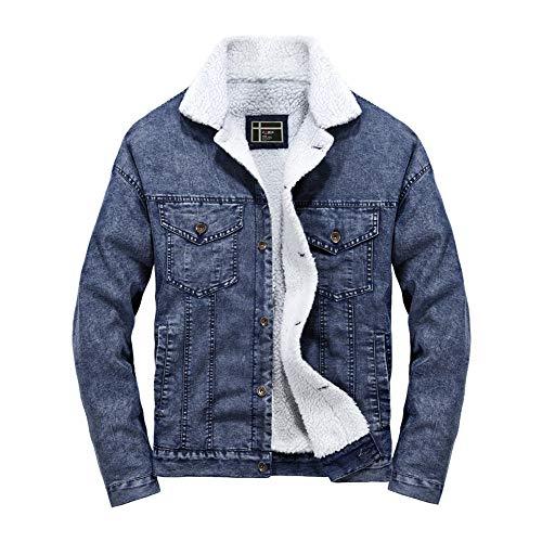 Bazhahei uomo top,trench giacca di jeans da uomo cappotto autunno inverno a manica lunga giacca top coat,nero blu s-2xl