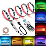 Opard Led TV Backlights Waterproof 2M(6.56ft) Wireless Remote Controlled 5V USB Powered TV LED Strips Lights With 20 Colors & 22 Modes for 40 to 60 Inch TV (4pcs x 1.64ft)