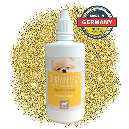 EMMA Ohrenreiniger für Hunde I 100ml I Ohr Reinigung mit Kamille I Ohrenpflege bei Jucken, Kopfschütteln