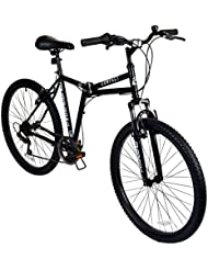 """26"""" Compact Mountain Folding BIKE - Suspension Collapsible Muddyfox in BLACK New"""